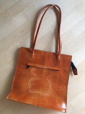 Orange braune Bärchen Tasche