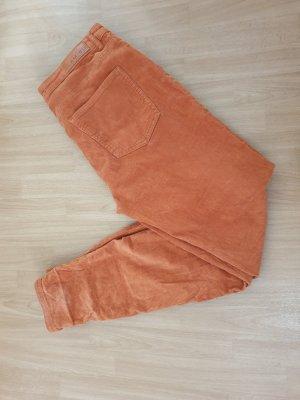 Amisu Pantalón de pana naranja-naranja oscuro