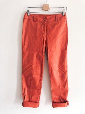 orange Farben leichte 3/4 Stoffhose