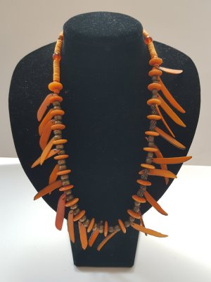 Collar estilo collier naranja-naranja claro