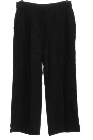 Orange Company Pantalon en lin noir style décontracté
