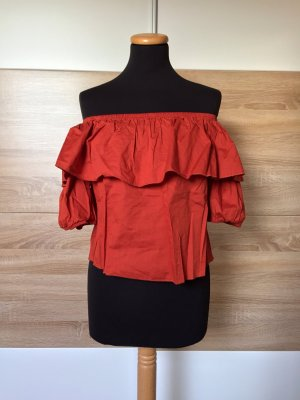 Papaya Carmen blouse veelkleurig Gemengd weefsel