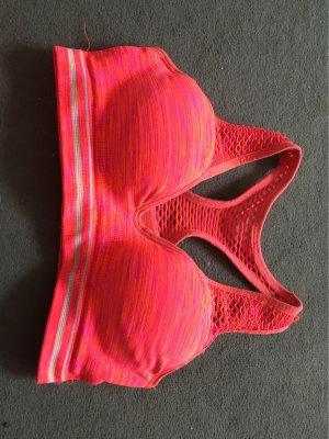 Pink Victoria's Secret Conjunto de lencería rojo ladrillo