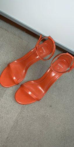 Orange Sandaletten