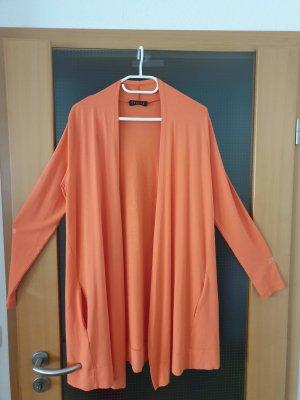 orange Strickjacke von SEMPRE