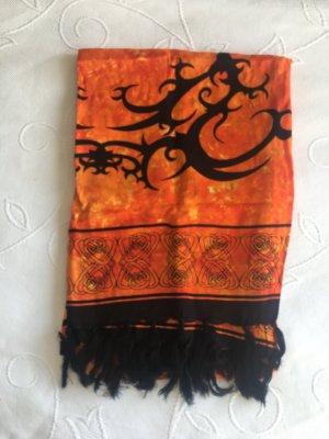 keine Pocket Square black-orange silk