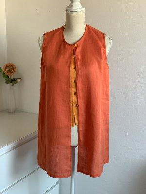 Orange Vintage Leinenbluse / Bluse aus Leinen