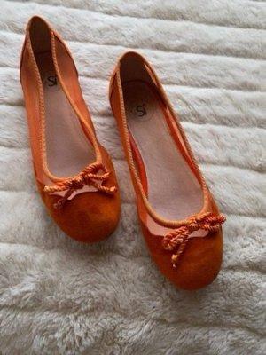 Si Bolleti Peep Toe ballerina's oranje