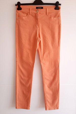 Orangefarbene Jeans slim fit mid waist von Taifun Gr. 36