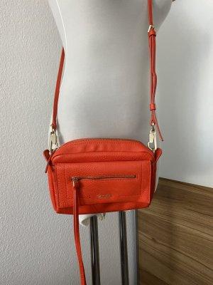 Orangefarbene Ledertasche von CALVIN KLEIN, Top Zustand!