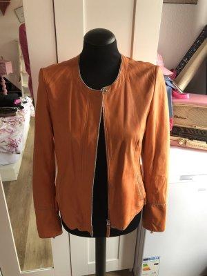 Milestone Leather Jacket orange