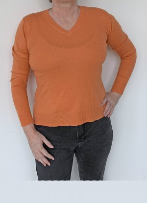 Authentic Fine Knit Jumper orange silk