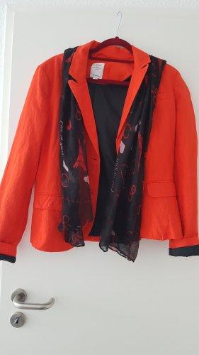 Orangefarbener moderner Blazer Gr 40