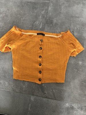 Bershka Gebreid shirt licht Oranje