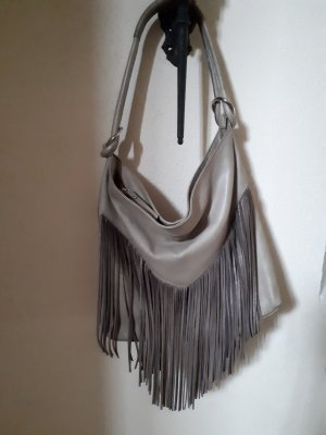 Made in Italy Sac à franges beige clair