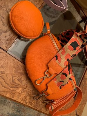 Börse in Pelle Crossbody bag orange leather