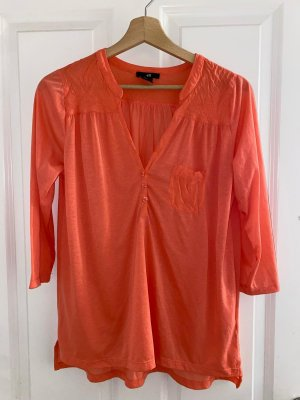 H&M Blouse Shirt bright red