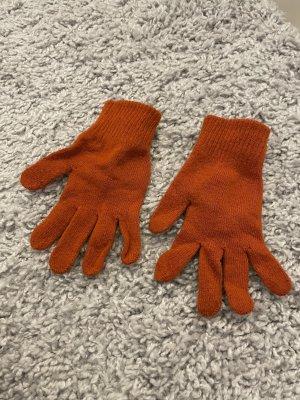 H&M Knitted Gloves orange