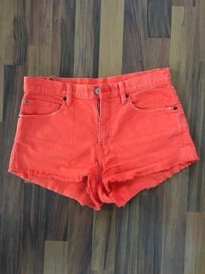 Denim & Supply Ralph Lauren Hot Pants salmon cotton