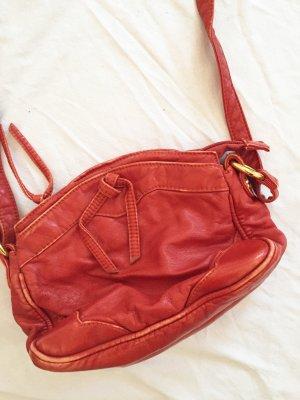Orangene kleine Umhängetasche / Handtasche / Tasche  Schultertasche  im Vintage 70s Style von Bershka