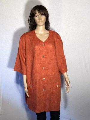 Giacca lunga arancione scuro-arancione Lino