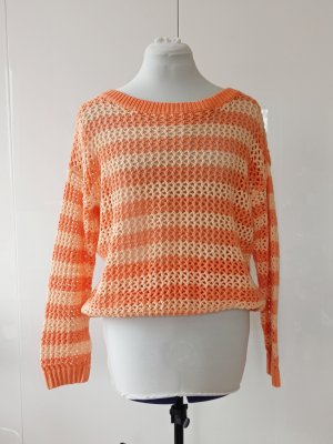 orangener Pullover Baumwolle XL