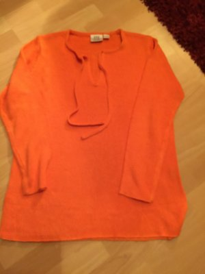 Orangener Strickpullover, Top, Gr. 38/40