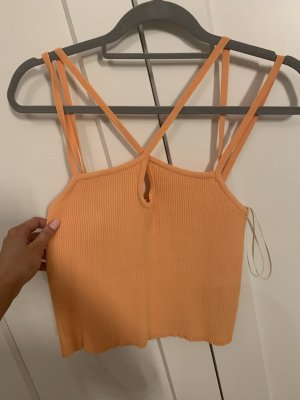 Zara Cut Out Top orange-neon orange