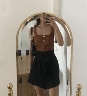 Bershka Top de ganchillo marrón-coñac