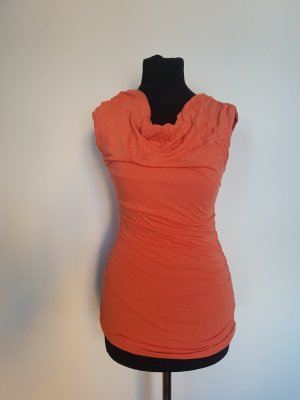 H&M Cowl-Neck Top light orange