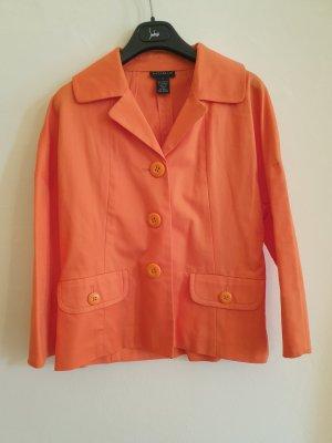 Oranger Baumwoll Sommer Blazer
