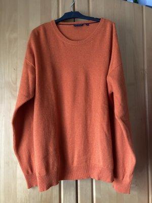Kaszmirowy sweter pomarańczowy Kaszmir