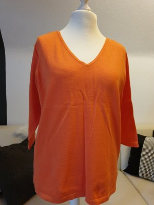 Madeleine V-Neck Sweater orange