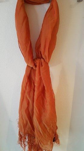 oranger Seidenmisch-Schal von Codello