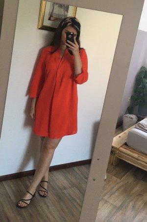 orangerotes Tunikakleid