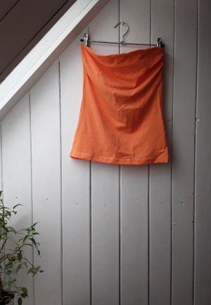 H&M Haut bandeau orange-orange fluo