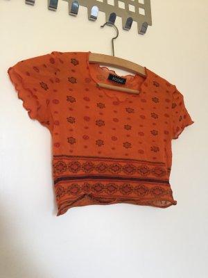 Kookai Cropped Shirt dark orange-dark red