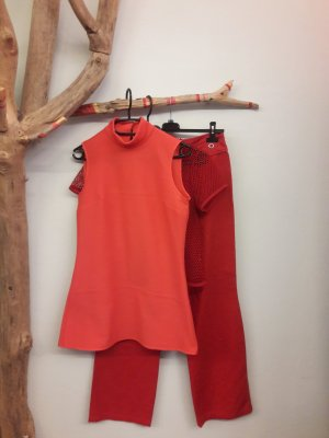 Turtleneck Shirt red-bright red