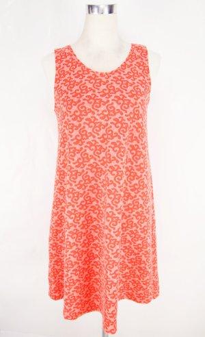 Oranges Kleid Gr. S Knielanges Kleid