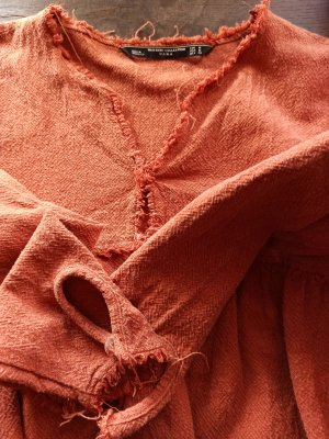 Zara Longsleeve Dress light orange-orange