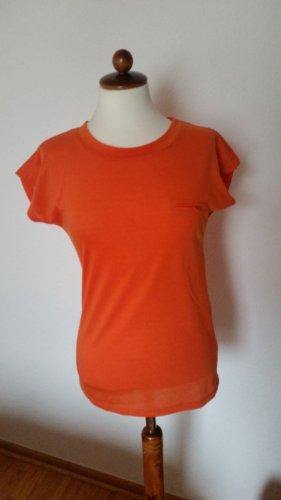 """- oranges Kurzarm T-Shirt """"Reserved"""" Gr. XS, NEU"""