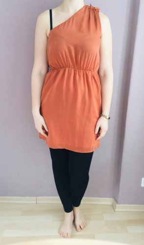 H&M One Shoulder Dress dark orange