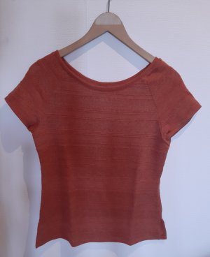 H&M T-shirt arancione scuro-ruggine