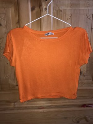 New Yorker Cropped top neonoranje