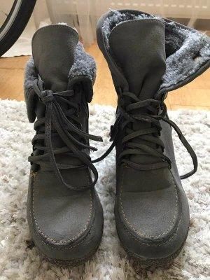 OrangeSkin Plateau-Schuhe mit Keilabsatz [Grau, Gr. EU 36]