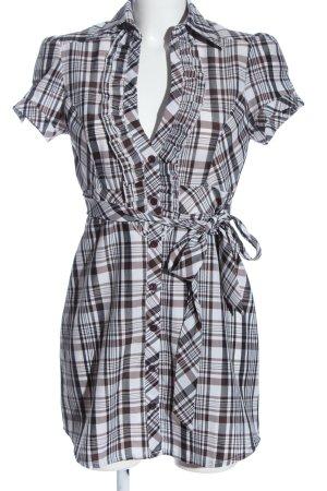 Orcelly Abito blusa camicia motivo a quadri stile casual