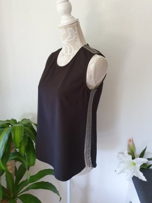 Orfeo negro Top cut-out nero-argento