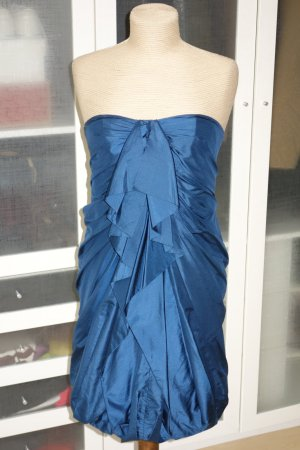 Org. 3.1 PHILLIP LIM Bustierkleid aus Seide mit Raffungen blau Gr.34/36