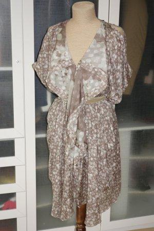 3.1 Phillip Lim Sukienka szaro-brązowy-beżowy Jedwab