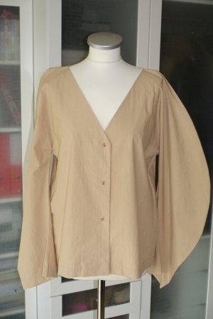 ÁERON Oversized blouse camel Katoen